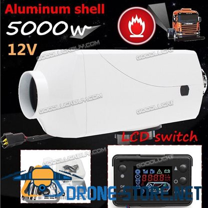 12V 5KW Diesel Air Heater LCD switch 2xVent Duct Thermostat Caravan Motorhome GT