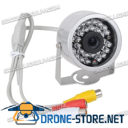 """1/3"""" Sensors Audio Video Outdoor Day Night Security Camera 30 IR LEDs f/ Home CCTV System"""