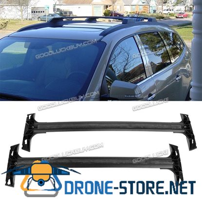 1 Pair Black Al Roof Rack Cross Bars Top Rail Carries for 09-17 Chevy Traverse