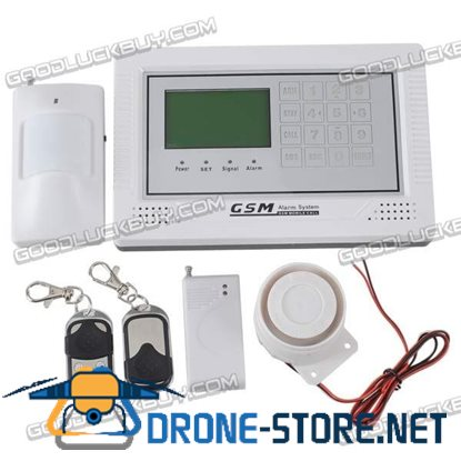 YL-007M2BXs Wireless Touch Keypad GSM Security Alarm System with LCD Display White + Black