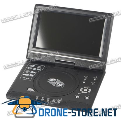 "9.8"" Portable Car DVD CD Player TFT-LCD Display 270 Rotating for Game Video TV SD/ MS/MMC"