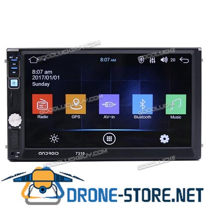"7310 Quad Core Android 7.1 3G 7"" Car 2 DIN GPS Bluetooth MP5 Stereo Radio FM AUX + Camera"