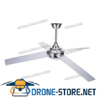 52'' Ceiling Fan LED Light w/ Remote Control Indoor Dining Living Room Silver