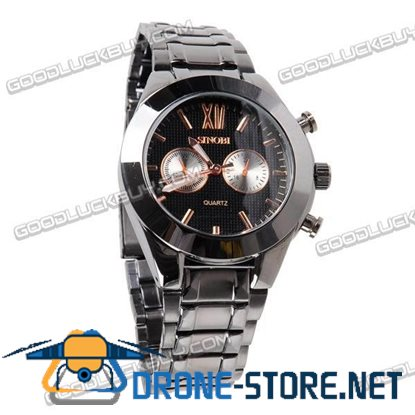 Stainless Steel Quartz Wrist Watch Men Gift Waterproof 9249