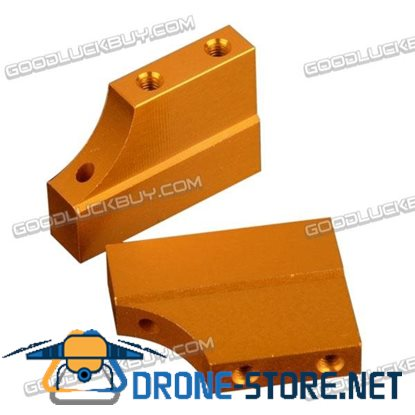 02128 102005 Yellow Aluminum Engine Mount Upgrade Parts for RC HSP 1:10 Car