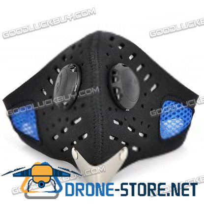 Outdoor Motorcycle Riding Anti-Dust Neoprene Warm Face Mask - Black + Blue