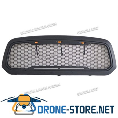EAG 13-18 Dodge Ram 1500 Grille Raptor Style Black LED Mesh Replacement Grill