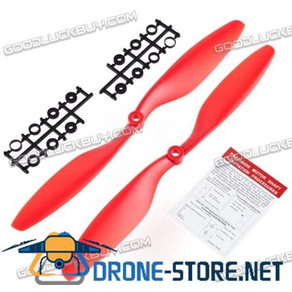 "10x4.5"" 1045 1045R Counter Rotating CW/CCW Propeller Blade for MultiCoptor-Red"