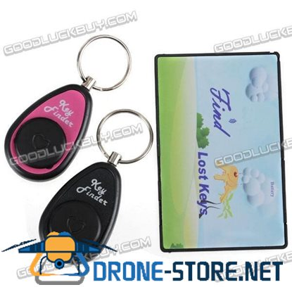 2 in 1 Electronic Key Finder Card Seeker Locator Find Lost Anti-Lost Keychain 30m