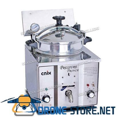 110V/220V Stainless Commercial Electric Pressure Fryer Cooker Chicken Countertop