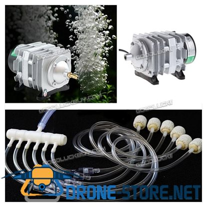 45L/min Electromagnetic Air Compressor Aquarium Oxygen Pond Air Pump Aerator 25W
