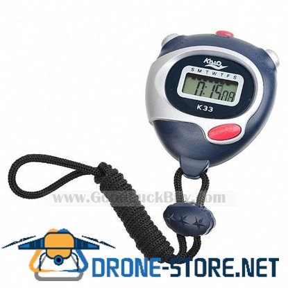 """1.0"""" LCD Sports Stopwatch with Time/Date/Week Display (1*LR44)"""