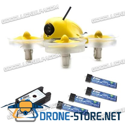 Horizon Blade Inductrix FPV 25mw Drone BNF Micro Quadcopter BLH8580 + 4 Battery