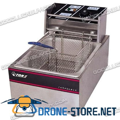 2500W COMMERCIAL ELECTRIC DEEP FRYER Stainless 5.5L