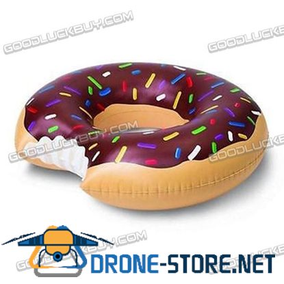 Giant Donut Swimming Swim Float Ring Summer Water Sport Inflatable Pool Toy Brown