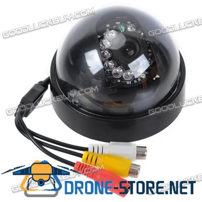 Dome CMOS Color Surveillance Security Camera with 12-IR LED Night-Vision - NTSC (12V DC)