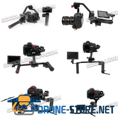 FD F2 V2 Handheld 3-Axis Brushless Gimbal Camera Mount with Dual Hand Holder Bracket & FPV Set for DSLR GH4 Canon 5D2