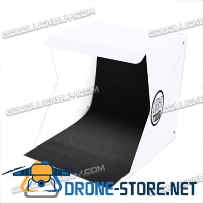 "40cm 16"" Light Room Photo Studio Photography Lighting Tent Kit Backdrop Cube Box"