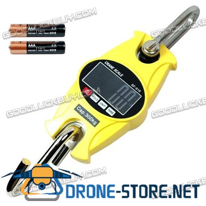 300Kg/1g Electronic Digital Portable Hanging Crane Scale with LCD Display