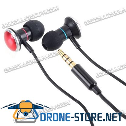 Earphone Headphone w/ Mic & Volume Button for iPhone