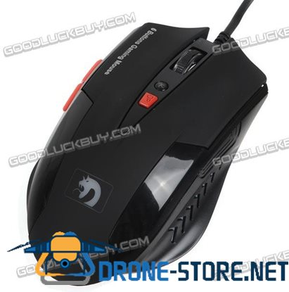 Blue Ultimate USB 6D Button Professional Optical Gaming Mouse Mice For CS/CF 613