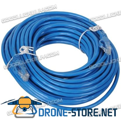 15M Cat5e Network LAN Ethernet Internet Cable for Gaming Computer-Blue