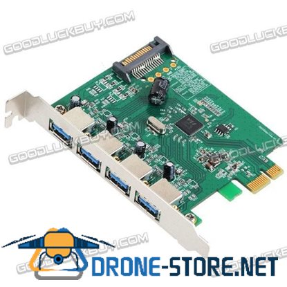 4 Port USB 3.0 HUB to PCI-E Expresscard Card Adapter with Super Speed 5Gbps