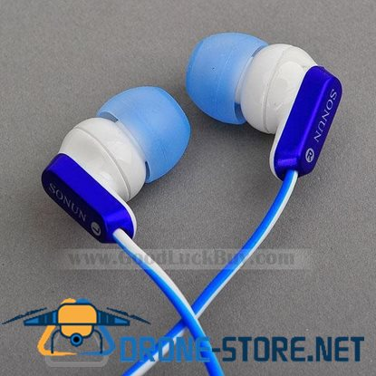 In-Ear Stereo Headphones Earphone for PC Laptop MP3 3.5mm Blue