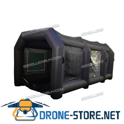 Black Inflatable Spray Booth Custom Car Paint Tent 12*5*4