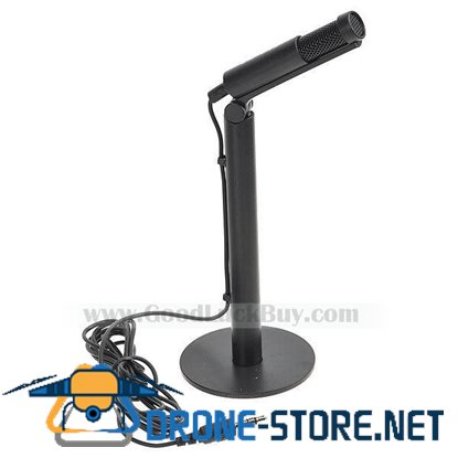 3.5mm Adjustable Cool Desktop Vertical Straight Microphone Mic New