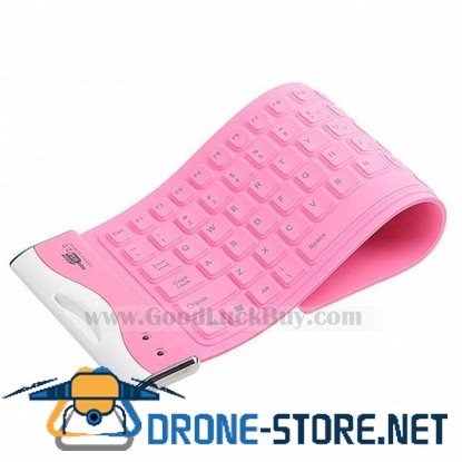 84-Key USB 2.0 Washable Silicone Foldable Keyboard Keypad f Computer PC