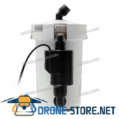 6W Aquarium Fish Tank External Canister Filter Table Top HW-602B 400L/h