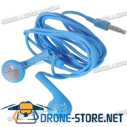 Blue Headset Earphone Headphone Earbuds 3.5mm for Tablet Phone MP3 MP4