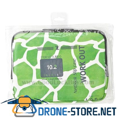 "10.2"" Soft Notebook Laptop Zipper Sleeve Carrying Case Bag iPad Green"