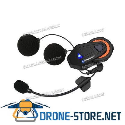 1500M 8 Riders Bluetooth Motorcycle Helmet Intercom Interphone Headset Radio FM