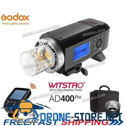 Godox AD400Pro 400Ws 2.4G TTL Flash + Trigger Xpro-C With Free Case for Canon EOS