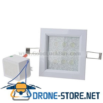 9x1W LED Recessed Ceiling Cabinet Light Warm White w/ Power Driver Supply