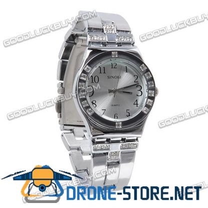 Stainless Steel Quartz Crystal Dial Wrist Watch Lady Gift Waterproof 9222