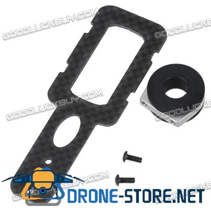 1.2G 2.4G 5.8G Telemetry Transmitter Carbon Fiber Mount Mounting Plate for 12cm Tube