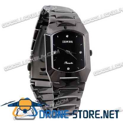 Stainless Steel Quartz Wrist Watch Men Gift Waterproof 3582