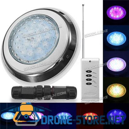54W Underwater Swimming Pool SPA Light Waterproof RGB 7Color LED Remote Control
