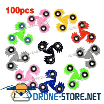 100PCS Lot Fidget Hand Tri Spinner Stress Reducer Toy Finger Focus Gyro