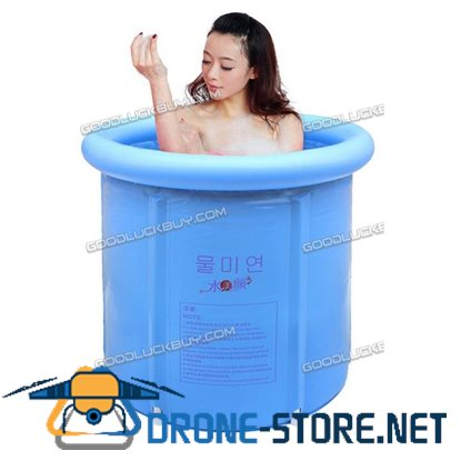75*75CM Portable Folding Bathtub Plastic Tub Water Place Room Spa Massage