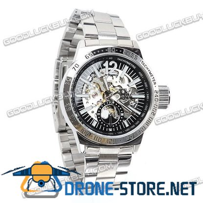 Stainless Steel Automatic Mechanical Men Wrist Watch IK Colouring 98236