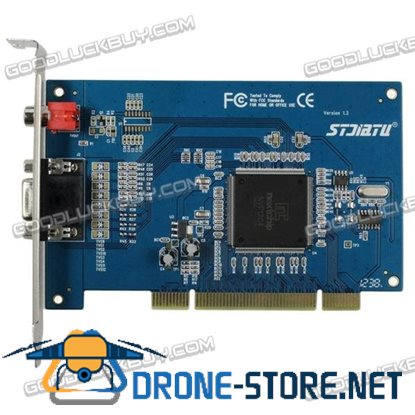 4CH D1 Record PCI-E DVR Card Real-time Mobile Phone View Win7 64bit ST-3203