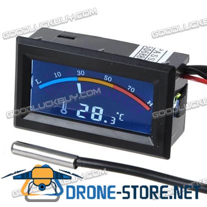 5V Digital Thermometer Temperature Meter Gauge Dual LCD