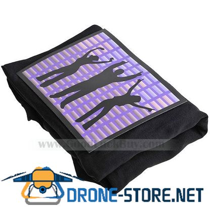 Sound and Music Activated EL Visualizer VU-Spectrum Dancer T-shirt - M (4*AAA)