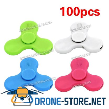100X Lot Bluetooth Speaker Hand Fidget Spinner Toy With LED Light Autism ADHD