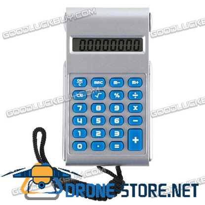 Mini Portable Electronic Calculator with Neck Chain