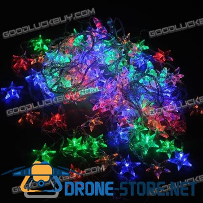 8-Mode Style Christmas LED Light with Star Shape Bulbs (220V)